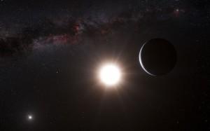 ArtistÕs impression of the planet around Alpha Centauri B