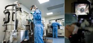 Controle de la mise en place de la poche du bioreacteur, Genethon Bioprod