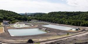 Vue d'ensemble de la station de traitement des eaux minières.